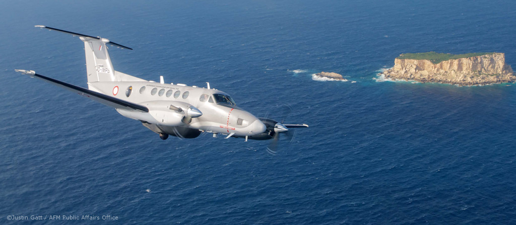 Surveillance Aircraft of type King Air B200 for the Armed Forces of Malta